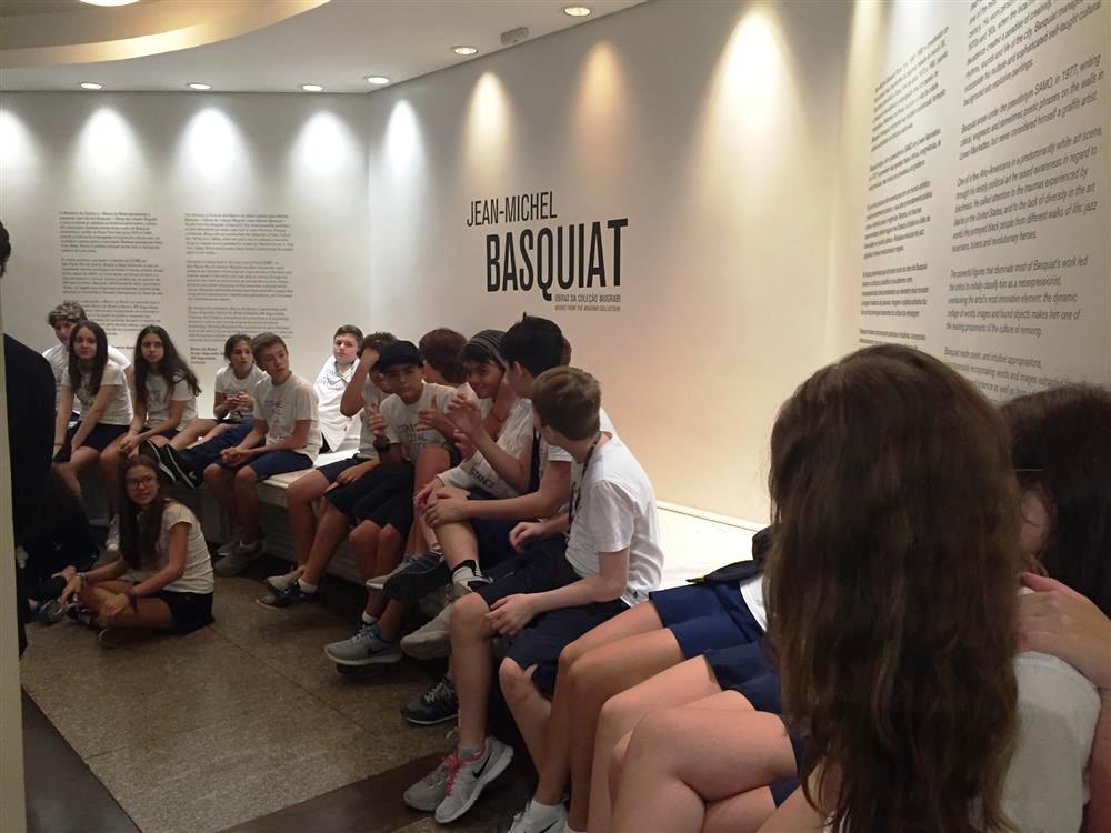 Exposição Jean-Michel Basquiat  - 8º ano