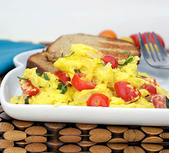 Scrambled eggs with tomatoes - Year 1